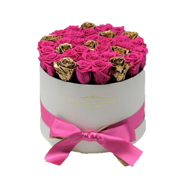 ピンク&ゴールド Small ホワイトボックス