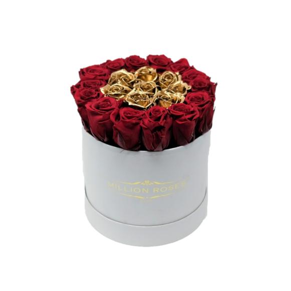 ワイン&ゴールド mini ホワイトボックス